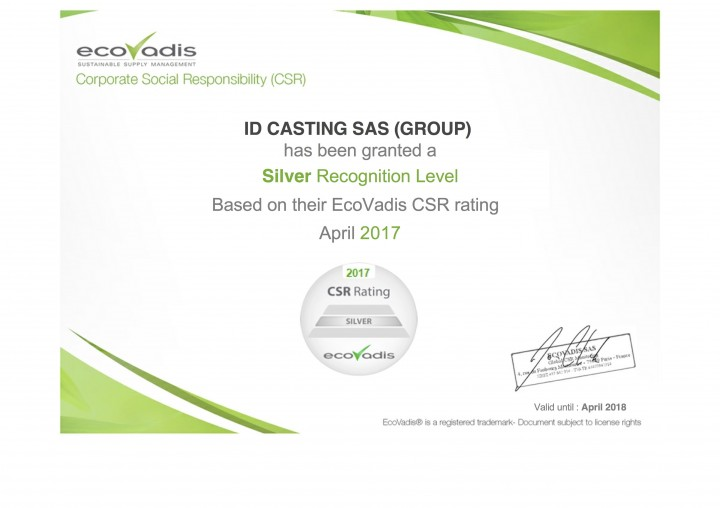 Ecovadis-Silver-Level-ID-Casting-Experience-Zamak-2